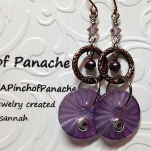 Purple Freshwater Pearl and Button ..
